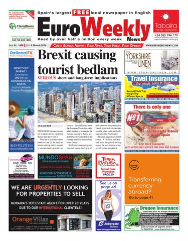 Euro Weekly News Costa Blanca North 3  Issue 1600