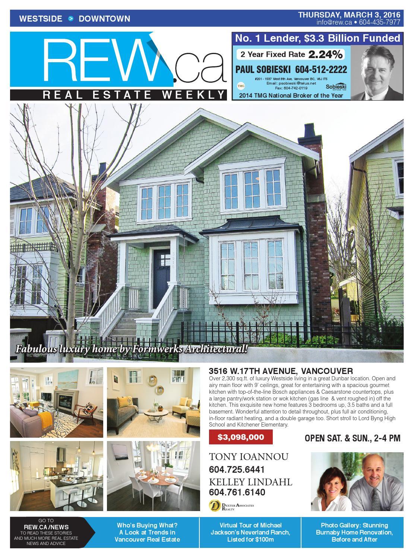 WESTSIDE / DOWNTOWN Mar 3, 2016 Real Estate Weekly by Real Estate ...