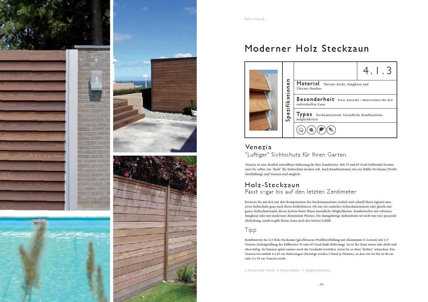 Terrassenboden Und Sichtschutz Felix Clercx Katalog By Tomwood Ag