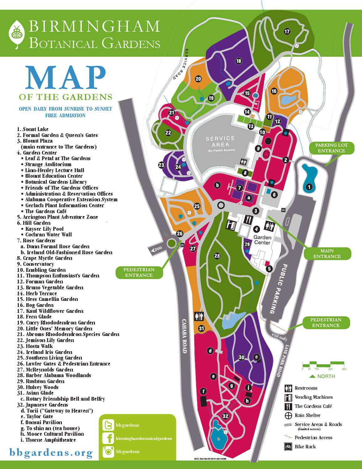Map Of Birmingham Botanical Gardens 2016 By Birmingham Botanical Gardens    Issuu