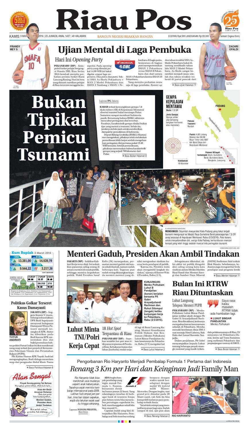 Riau Pos By Issuu Rkb Tegal Madu Mongso