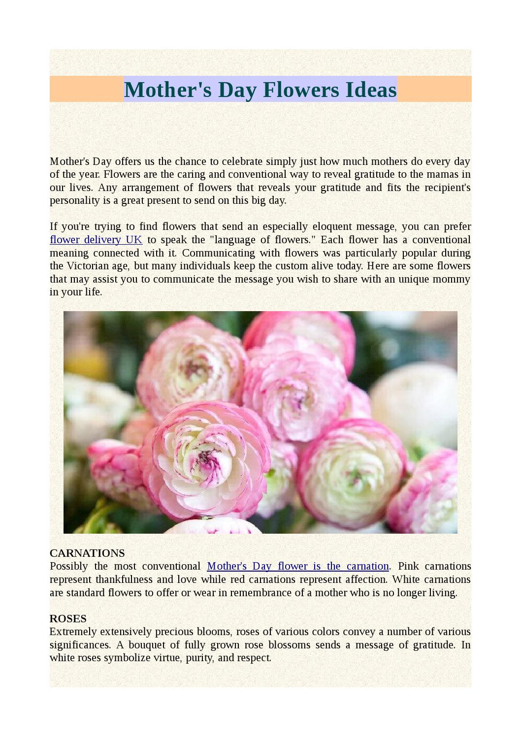 Mother S Day Flowers Ideas By Moyses Roses Issuu