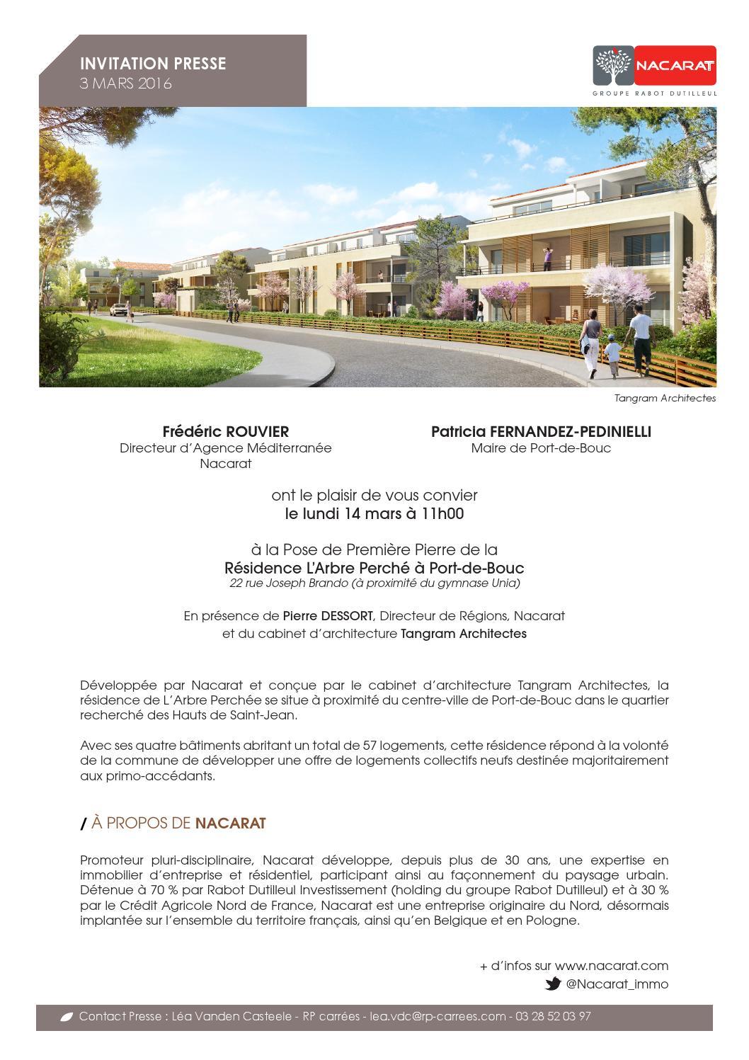 Invitation presse arbre perch by nacarat immo issuu - Patricia fernandez port de bouc ...