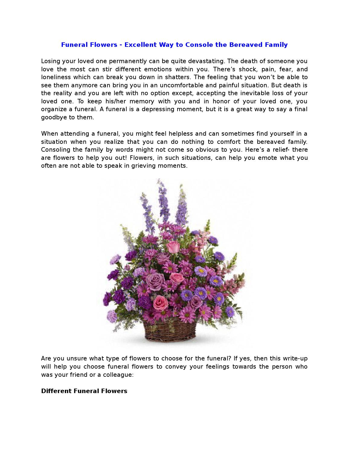 Funeral flowers excellent way to console the bereaved family by funeral flowers excellent way to console the bereaved family by devin mark issuu izmirmasajfo