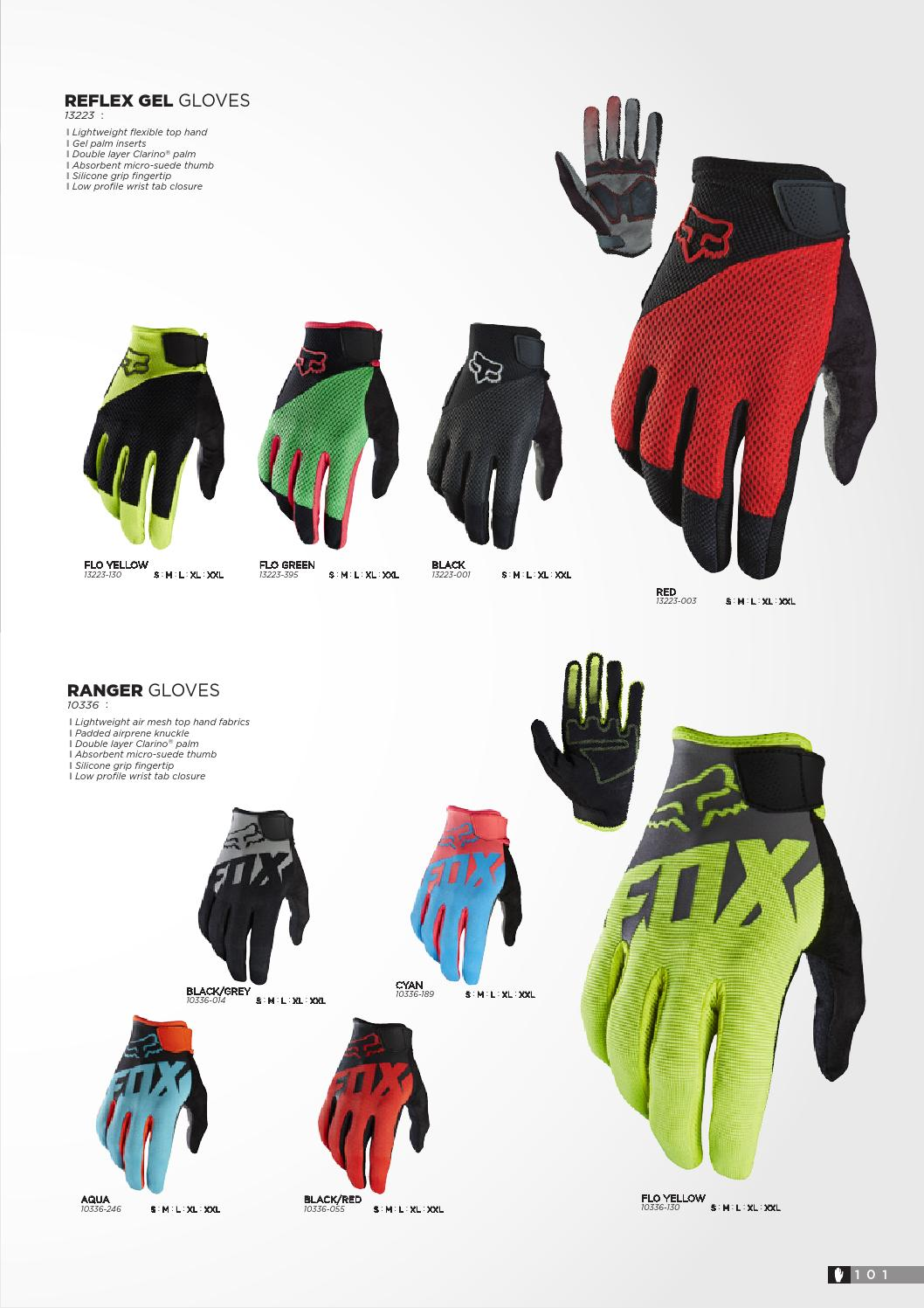 Fox Racing Reflex Gel Glove Flo Green