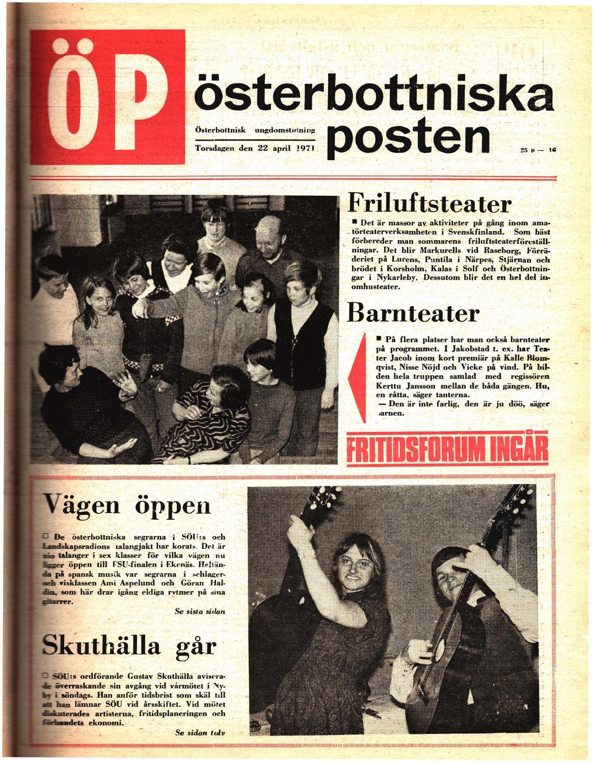 buy online 72869 11946 Österbottniska Posten (ÖP) nr. 16 1971 by Österbottniska Posten - issuu