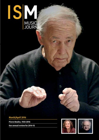 Ism Music Journal Marchapril 2016 By Incorporated Society Of