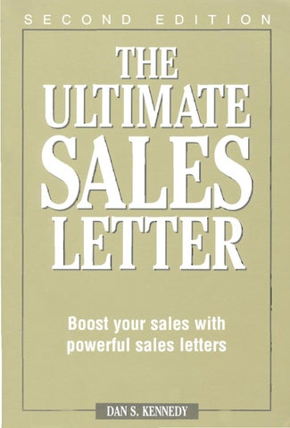 Dan Kennedy The Ultimate Sales Letter By Trulybug Issuu