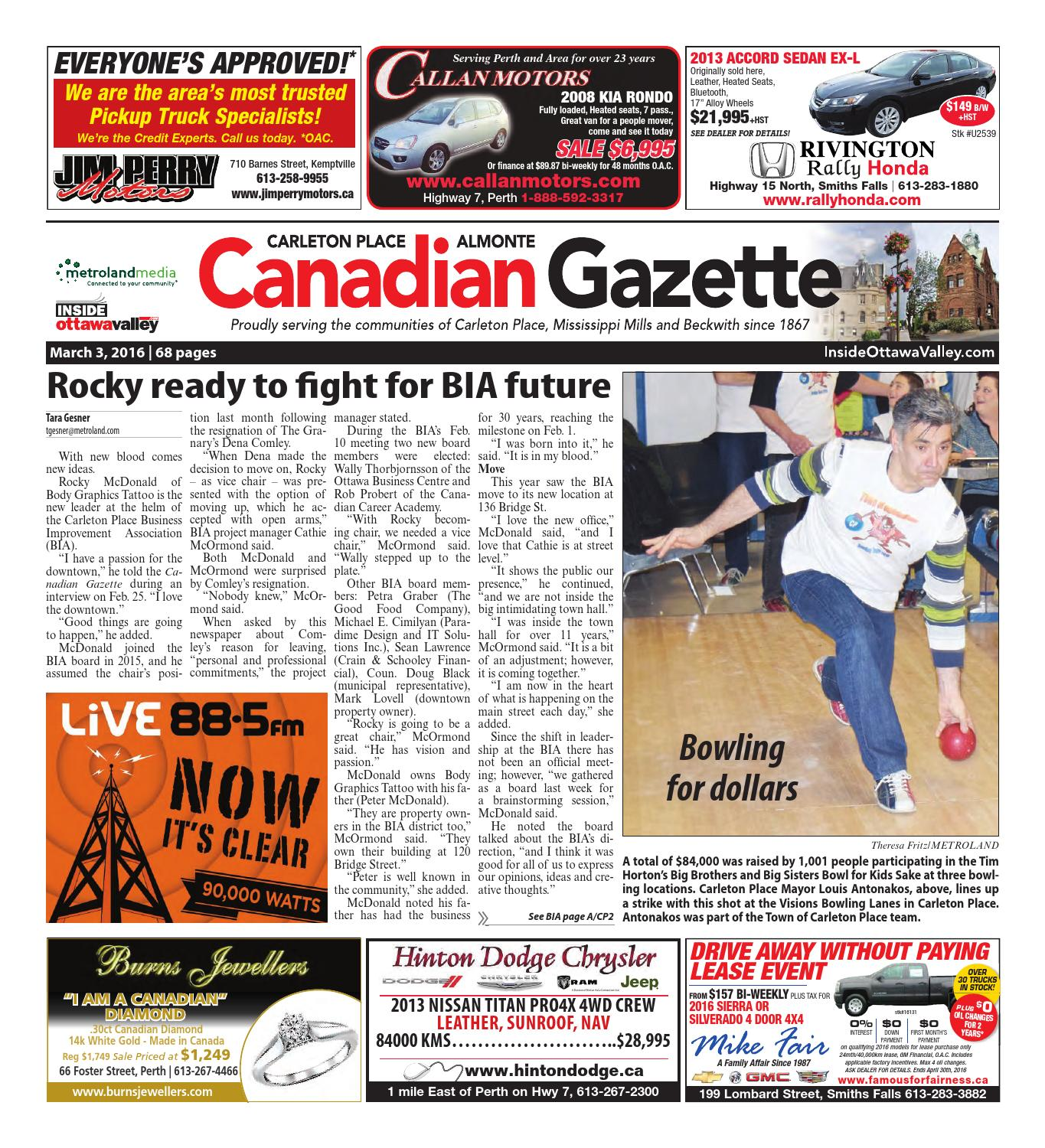 e5312c38a25 Almontecatletonplace030316 by Metroland East - Almonte Carleton Place  Canadian Gazette - issuu