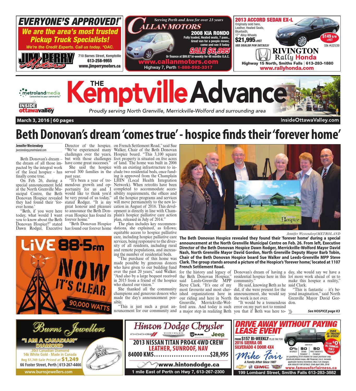 0a0d56d81f5e78 Kemptville030316 by Metroland East - Kemptville Advance - issuu