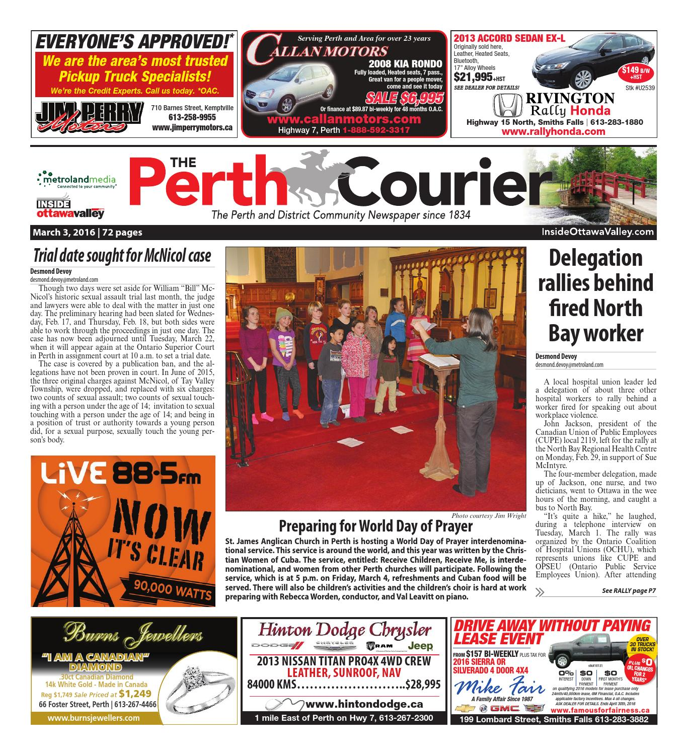 Perth030316 by Metroland East - The Perth Courier - issuu on