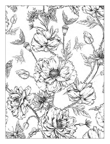 Coloring Books Of Flowers Beautiful Flowers Detailed Floral Designs Coloring Book