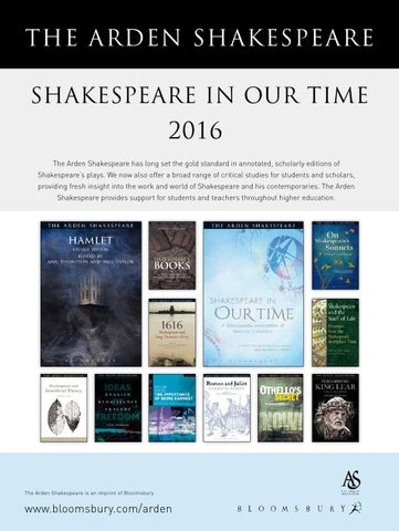 Arden Supplement 2016 By Bloomsbury Publishing Issuu