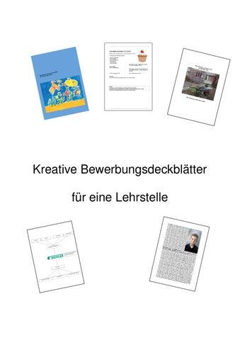 Deckblätter Bewerbungen Lehrstelle By Andreas Gmür - Issuu