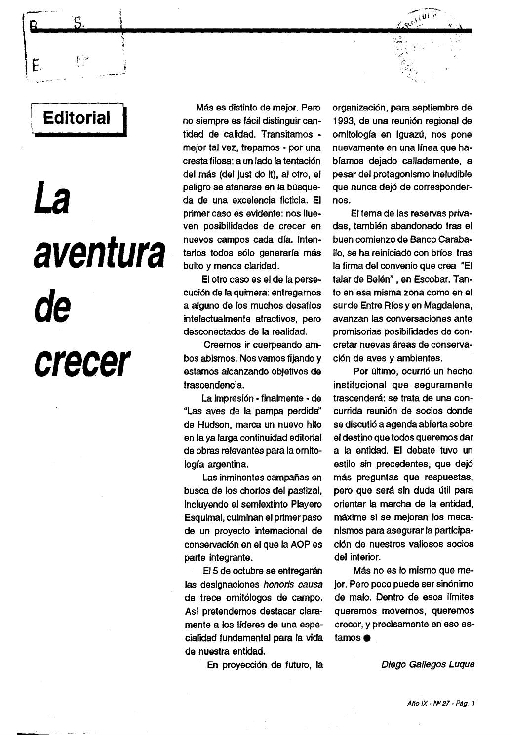 Revista_Nuestras_Aves_N°27_sept1992 by Aves Argentinas - issuu