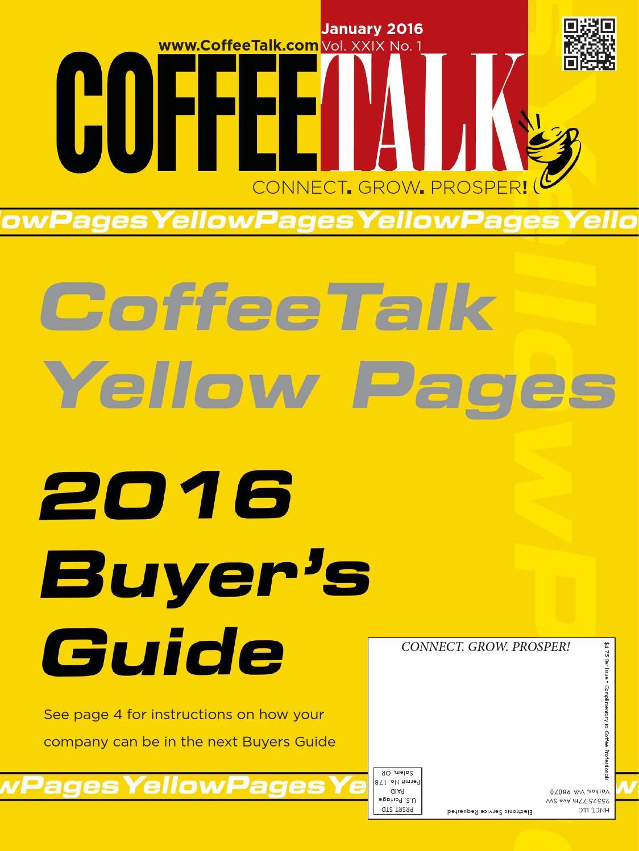 January 2016 by CoffeeTalk Magazine - issuu 1b2445315065