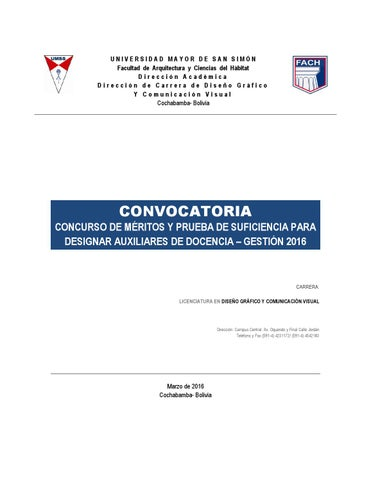 convocatoria auxiliares dise241o gr225fico 2016 by dise241o