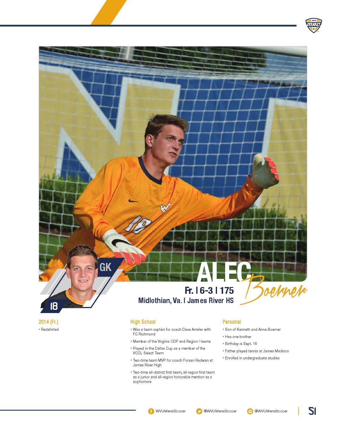 2015 WVU Men's Soccer Guide by Joe Swan - issuu