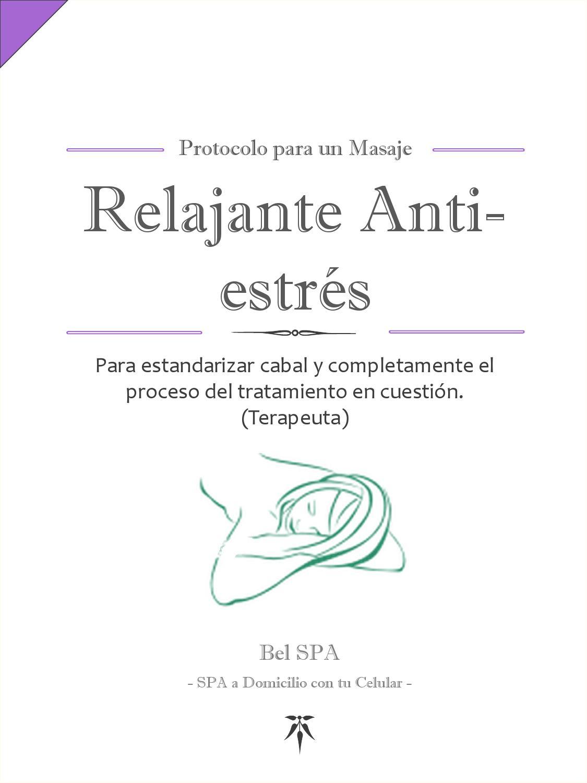 Protocolos para Masaje Relajante Anti Estrés (Beauty Expert) by Bel ...