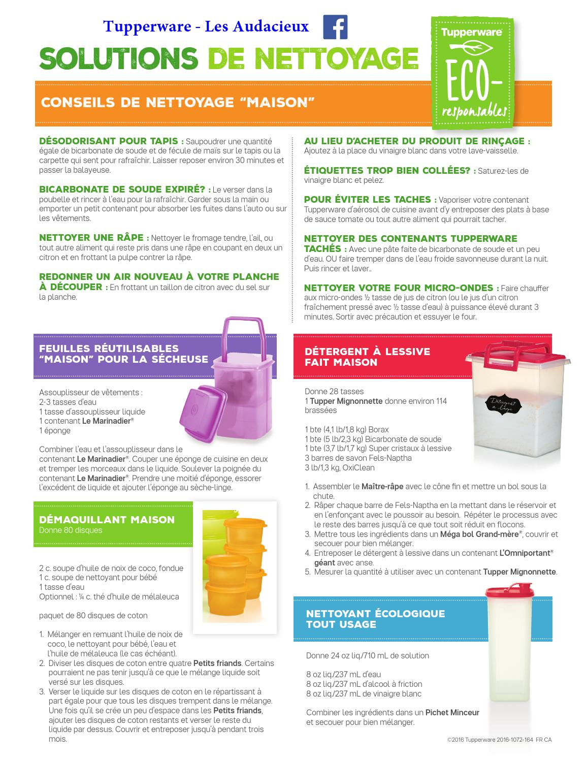 Solutions De Nettoyage Eco By Tupperware Les Audacieux Issuu