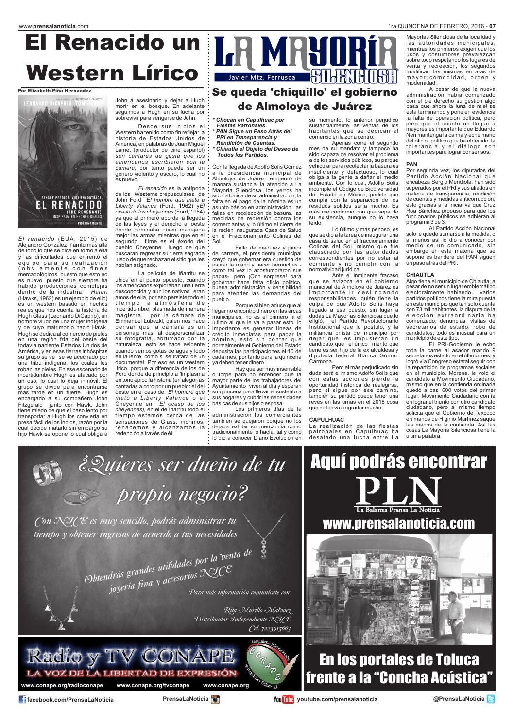 save off 9e1cb 5915b La Balanza Prensa la Noticia Primera Quincena de Febrero ...