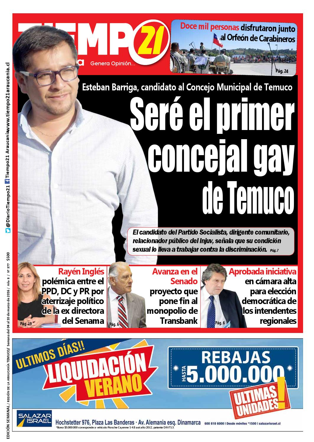 Edici N 377 Esteban Barriga Ser El Primer Concejal Gay De  # Muebles Jouannet Temuco