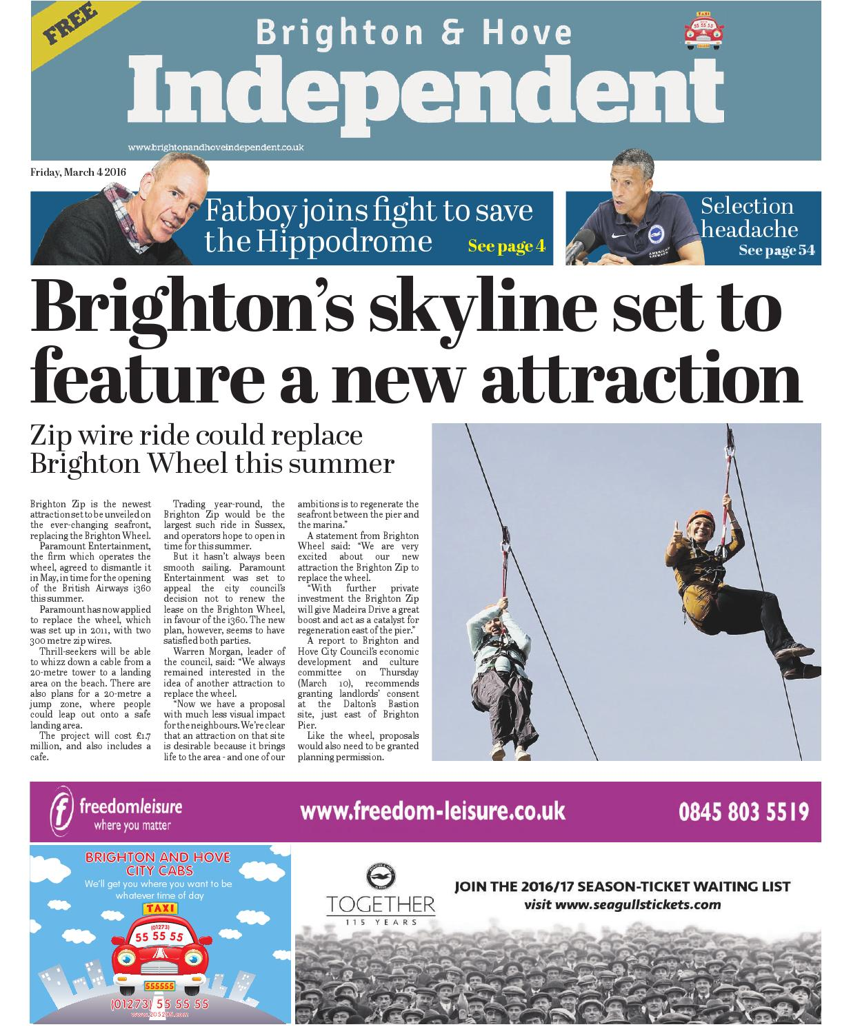 Brighton \u0026 Hove Independent - 4 March 2016 by Brighton \u0026 Hove ...