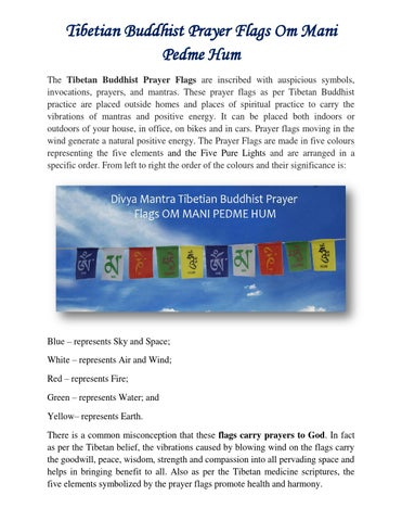 Tibetian buddhist prayer flags om mani pedme hum by Divya Mantra - issuu