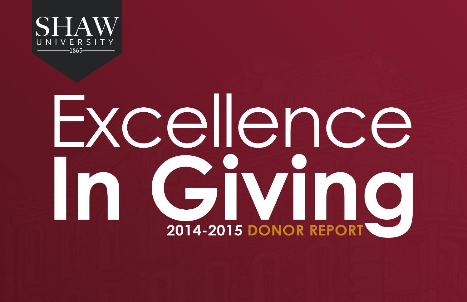2014 15 Donor Report By Shaw University Issuu The leading real estate marketplace. issuu