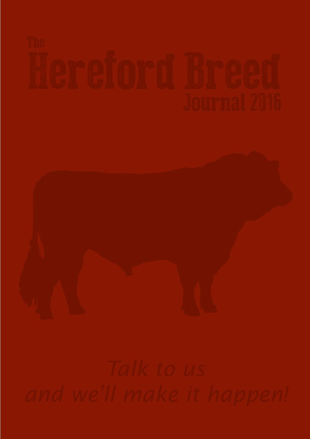2016 Hereford Breed Journal by UK Herefords - issuu