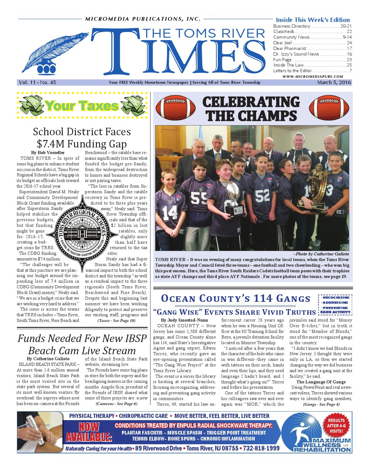 2016 03 05 The Toms River Times By Micromedia Publications Jersey If You Run Out Of Room On Starter Relay Quotbquot Post Install A Power Shore Online Issuu