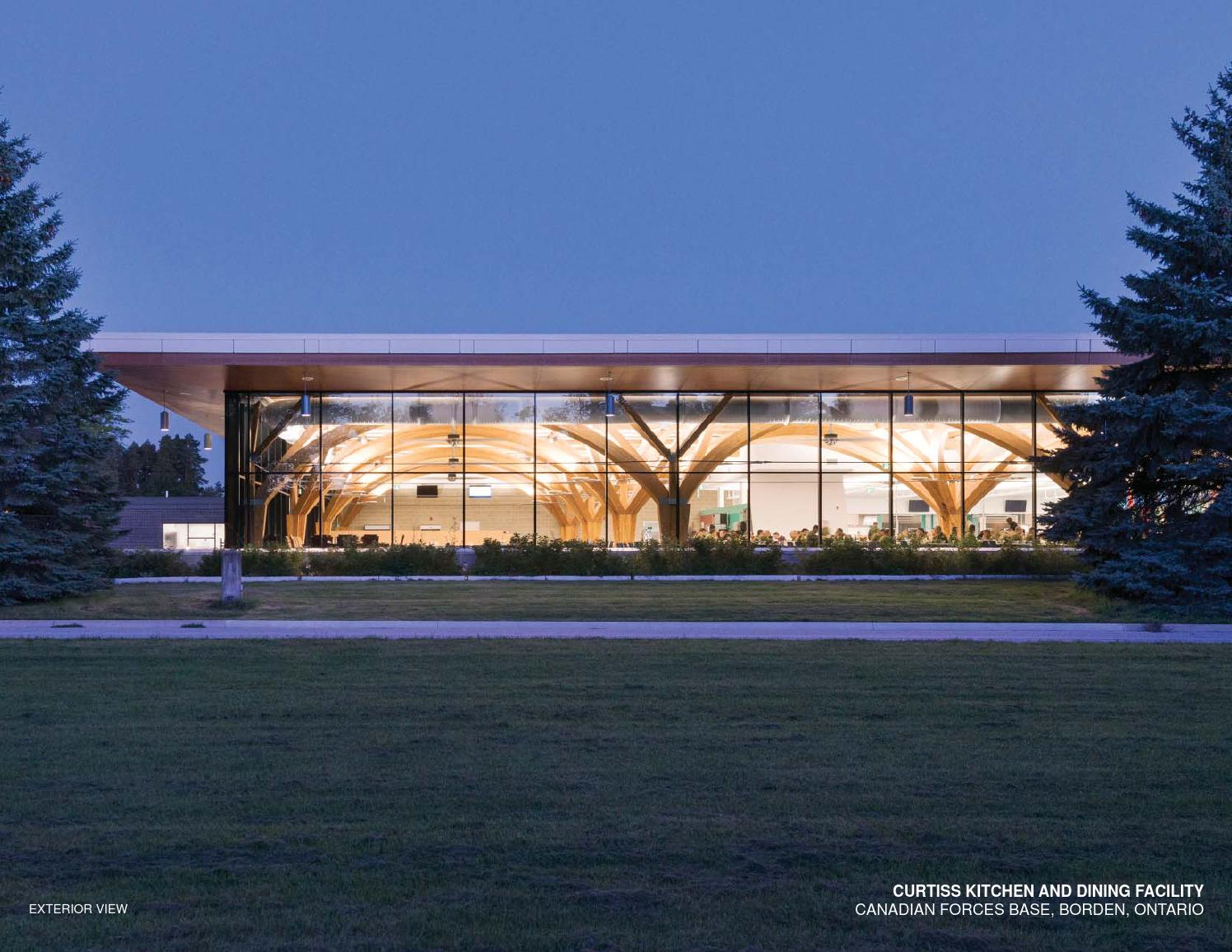 curtiss kitchen and dining facility  cfb borden by ontario association of architects