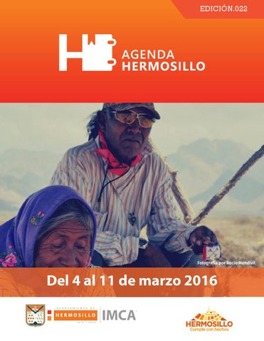 "Cover of ""Agenda Hermosillo del 4 al 11 de marzo"""