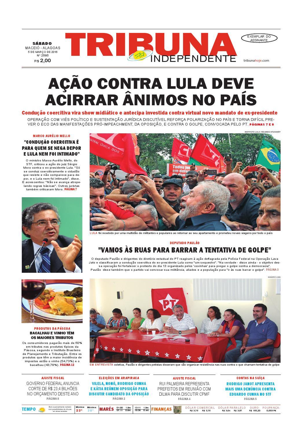 1b17e219fc6 Edição número 2585 - 5 de março de 2016 by Tribuna Hoje - issuu