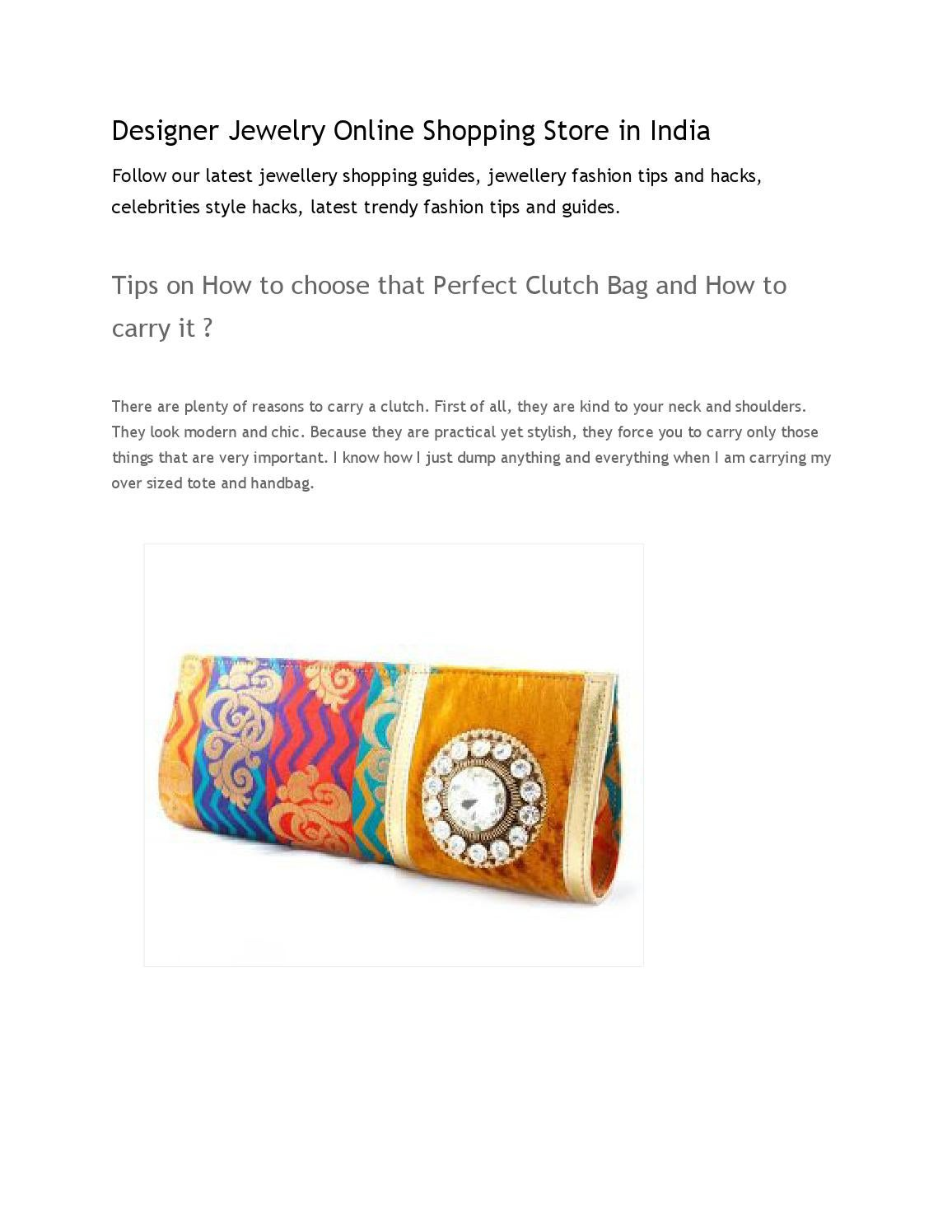 Tips on how to choose that perfect clutch bag and how to ...