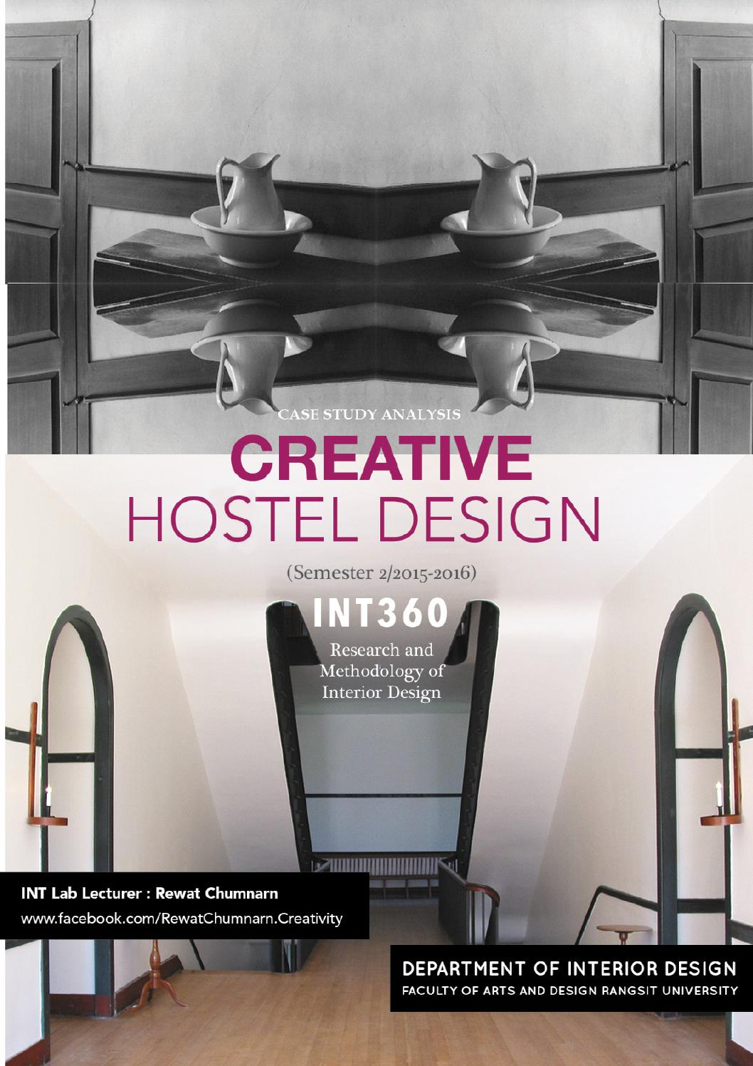 Case study analysis creative hostel design by rsu for Design a case