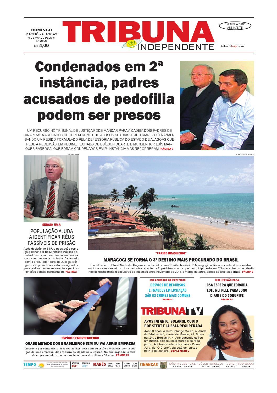 c000d40851d Edição número 2586 - 6 de março de 2016 by Tribuna Hoje - issuu