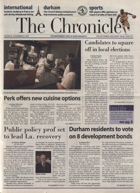 Eric Von Der Heyden november 8, 2005duke chronicle print archives - issuu