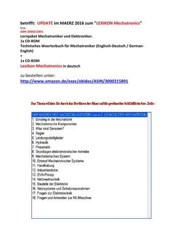 Mechatroniker: begriffe elektrische pneumatische hydraulische ...