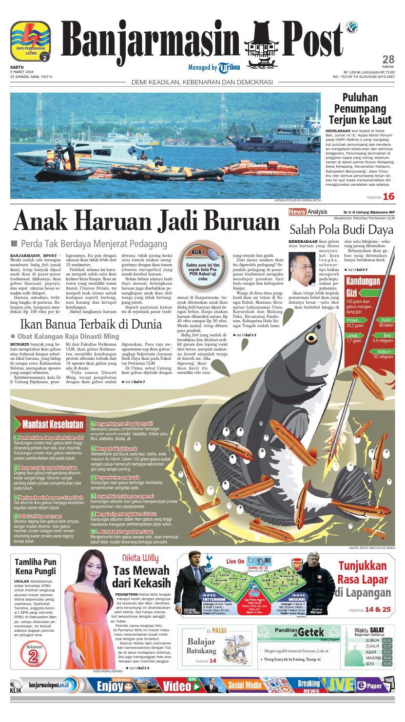 Banjarmasin Post Sabtu 5 Maret 2016 By Banjarmasin Post Issuu