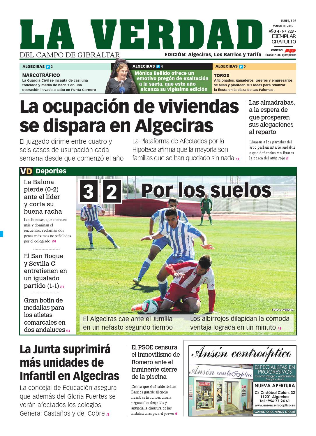 La verdad algeciras 7 marzo 2016 by La Verdad del Campo de Gibraltar ...