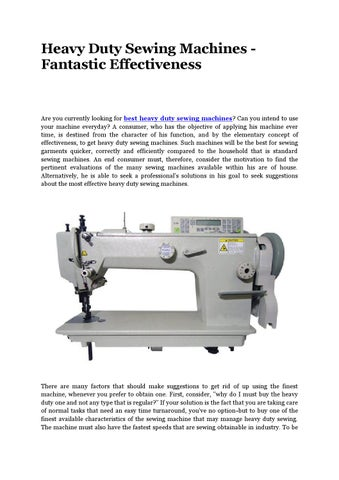 Best Industrial Embroidery Machine By Best Heavy Duty Sewing Machine Inspiration Fastest Sewing Machine