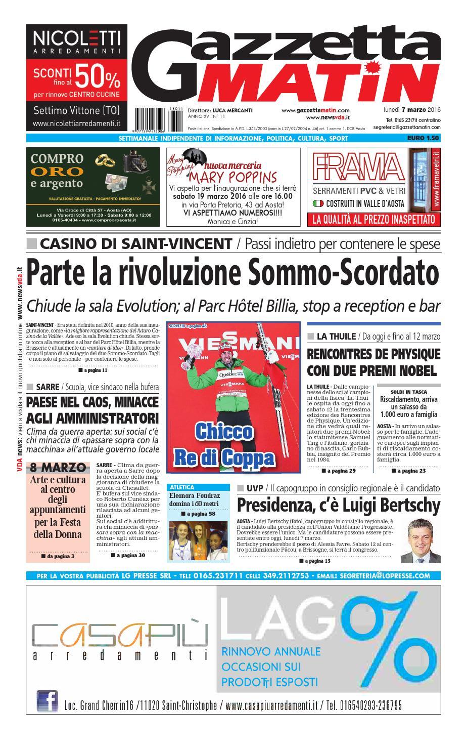 1d364569c4 Gazzetta Matin del 7 marzo 2016 by NewsVDA - issuu