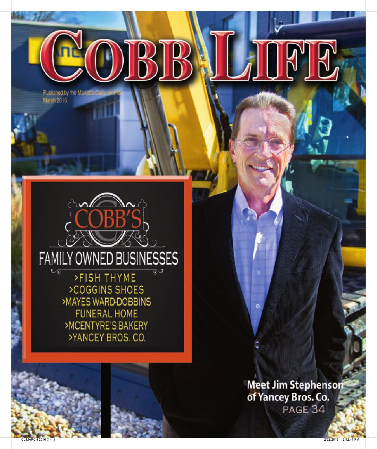 Ed Voyles Kia Home: Cobb Life March 2016 By Otis Brumby III