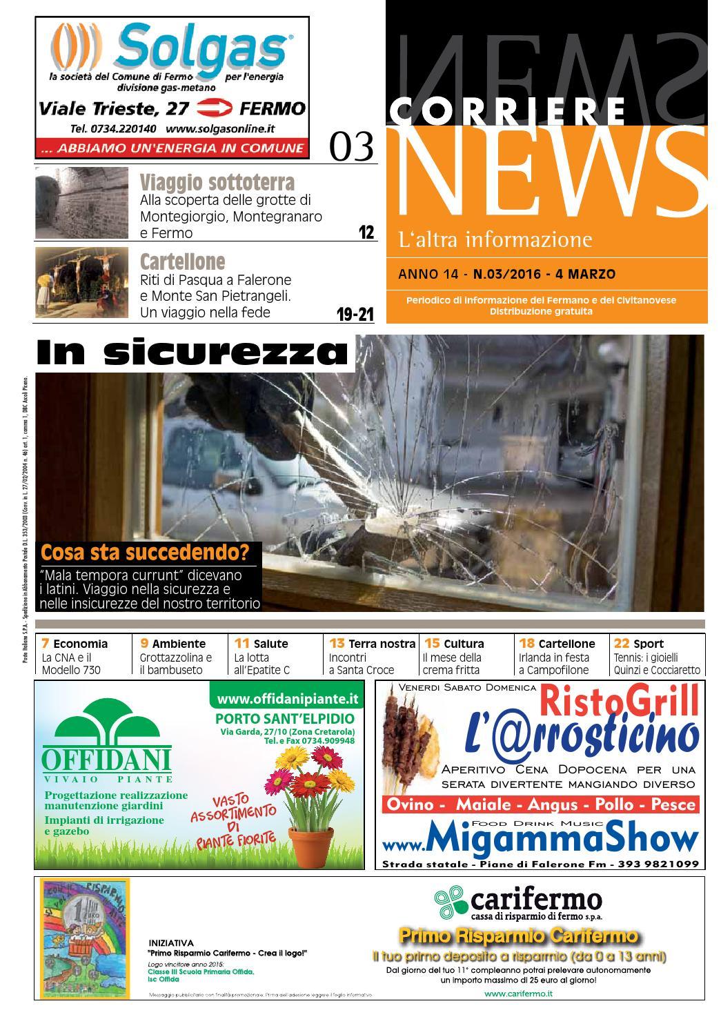 corriere news marzo 2016 by corriere news - issuu - Gazebo Unico Progetta Impresa Stecca Balaustra