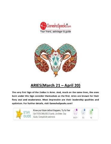 Aries Daily Horoscopes By Ganeshaspeaks Com By Ganesha Speaks Issuu