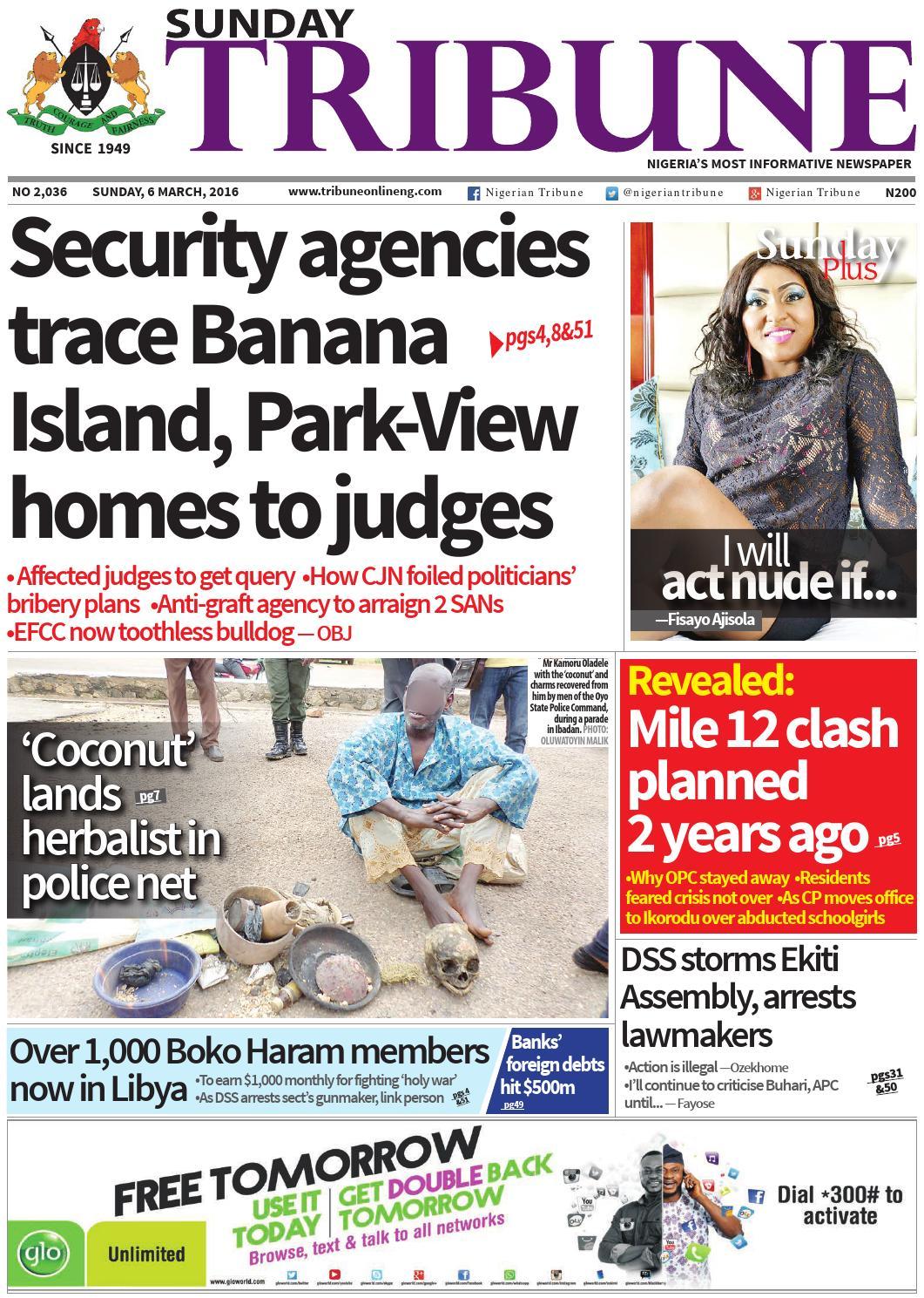 6th March 2016 by Nigerian Tribune - issuu