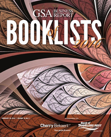 2016 GSA Business Report's Book of Lists by SC BIZ News - issuu