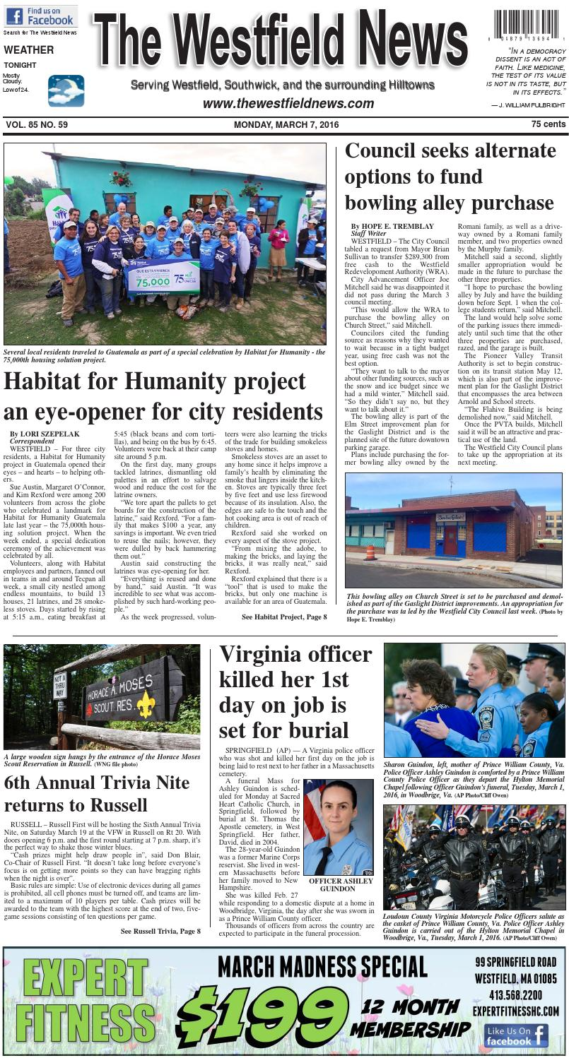 Monday, March 7, 2016 by The Westfield News - issuu