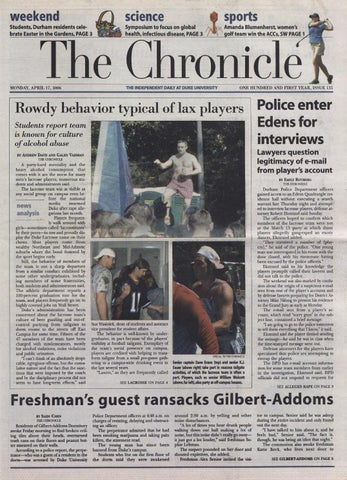 April 17 2006 By Duke Chronicle Print Archives Issuu
